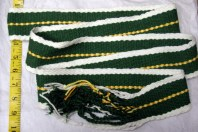 """Green, Gold, and Orange - about 2"""" Wide x 60"""" Long"""