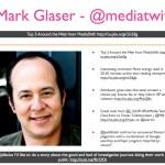 Mark Glaser - @mediatwit