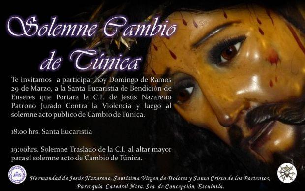 Solemne Acto de Cambio de Túnica, Domingo de Ramos