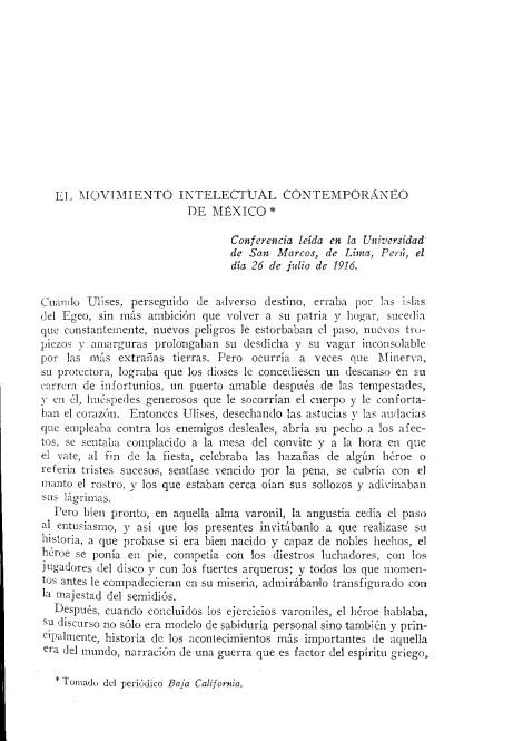 Una nueva Minerva rejuvenecida y de mirar más dilatado es la que preside el desarrollo del grupo de las naciones latinas de América,