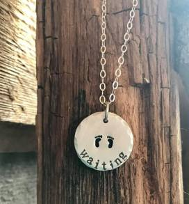 Hand stamped disk. $28
