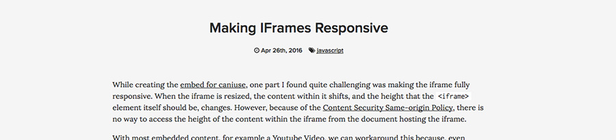 Rendre une iframe responsive-ressources web en divers-blog Catepeli