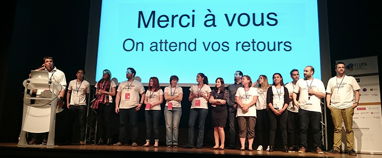 La super équipe organisatrice des Flupa UX Days de 2016-Catepeli Blog