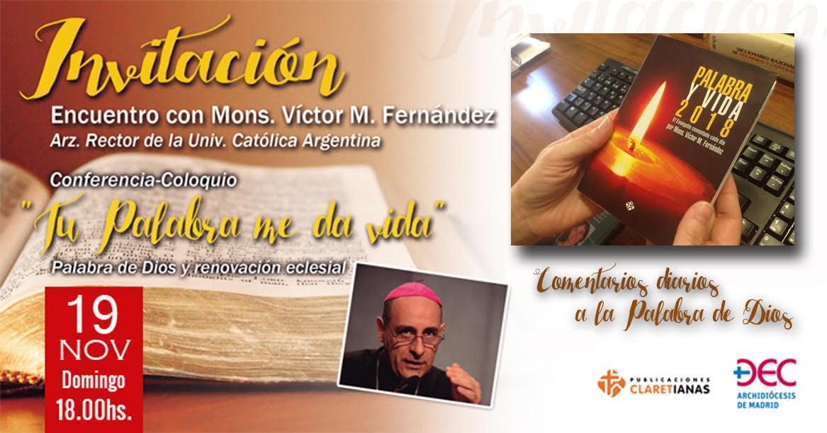 Conferencia de Victor Fernandez: video y entrevista en radio