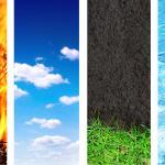 Tierra, agua, aire, fuego
