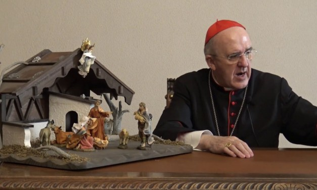 """El Cardenal Osoro propone detenerse """"por un instante"""" ante el belén"""