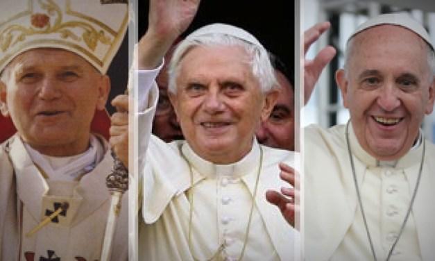 San Juan Pablo II, Benedicto XVI y Francisco: De la Nueva Evangelización a las periferias existenciales