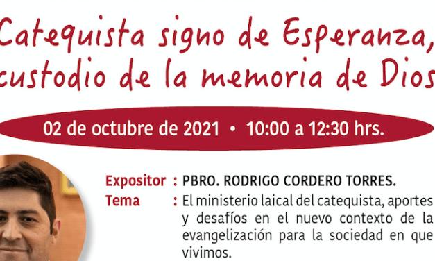 Ponencia on-line desde Chile sobre El ministerio laical del catequista
