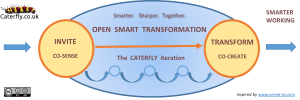 Diagram: Caterfly's Open Smart Transformation process based on Open Space Technology