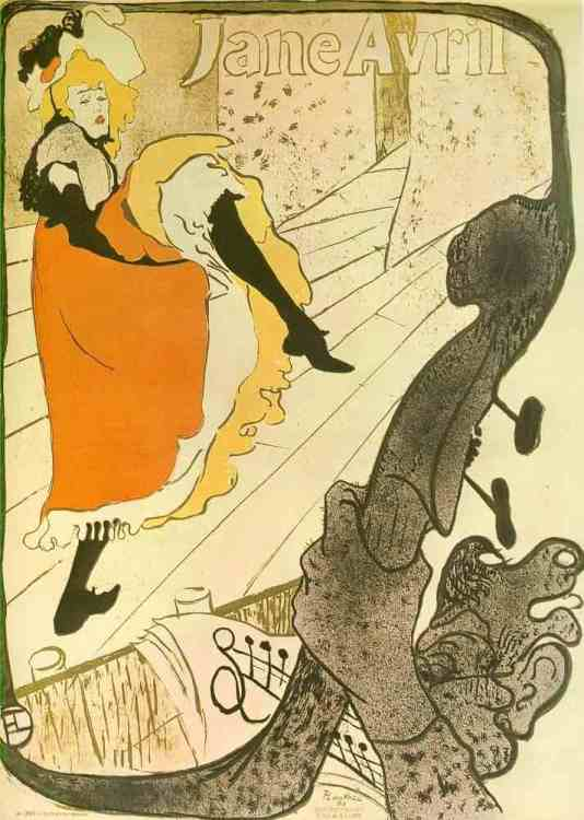 Jane Avril - Tolouse - Lautrec (1893)