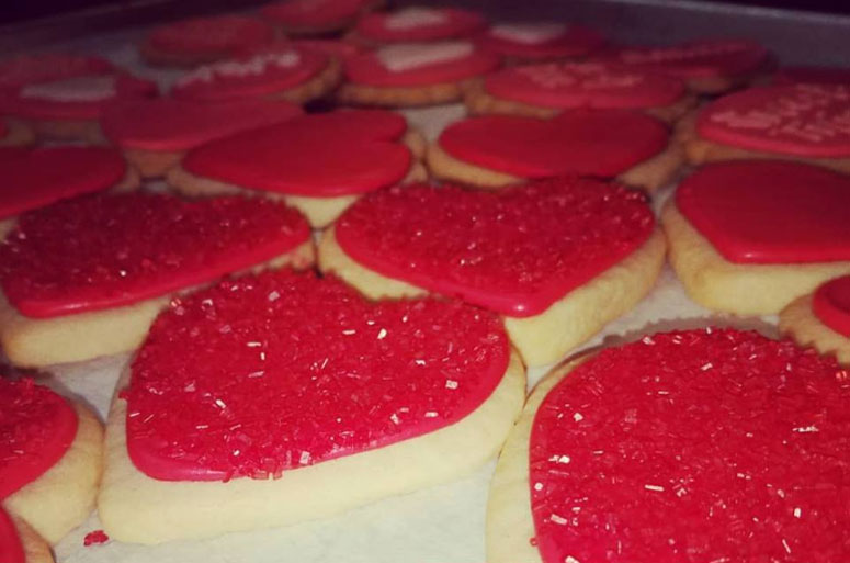 Heart Shaped Cookies for Your Anniversary Party