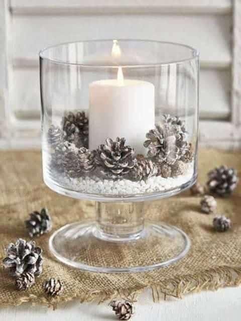 candela natalizia centrotavola