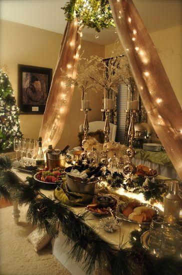 tavolo buffet natalizio