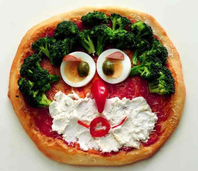 Pizza gufo da fare con i bambini a casa