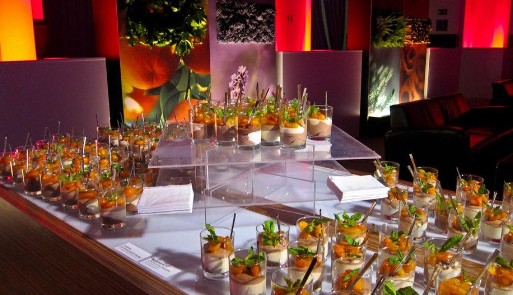 Dessert Station zum Get together nach dem Gala Dinner.