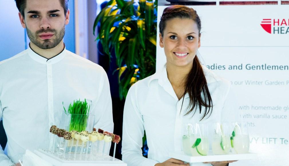 Begrüßung zum Kundenevent mit Ingwer-Minz-Limonade.