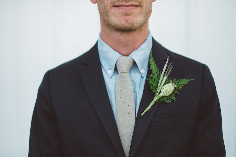 Groom Boutonnière Cherry Basket Farm Wedding