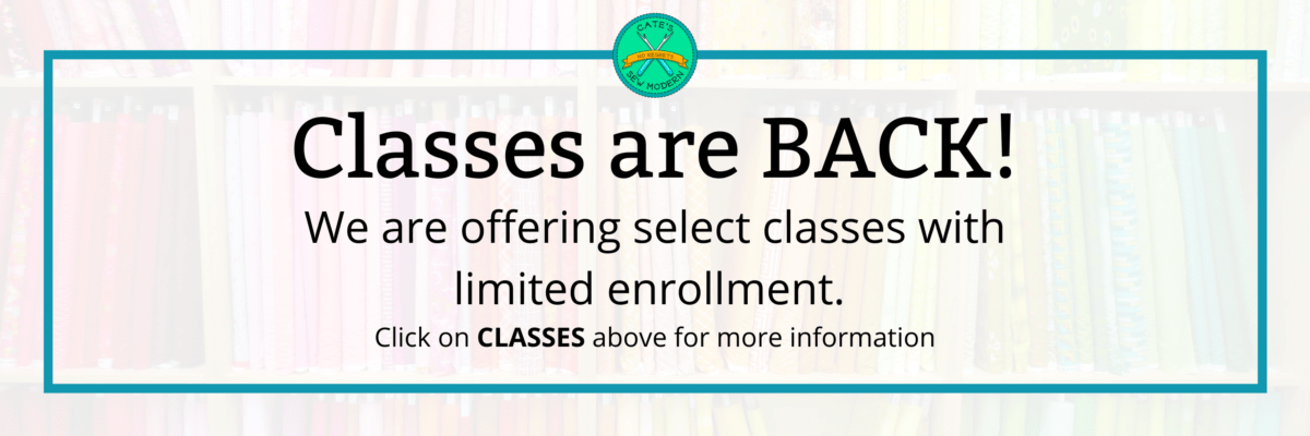 Classes are Back!