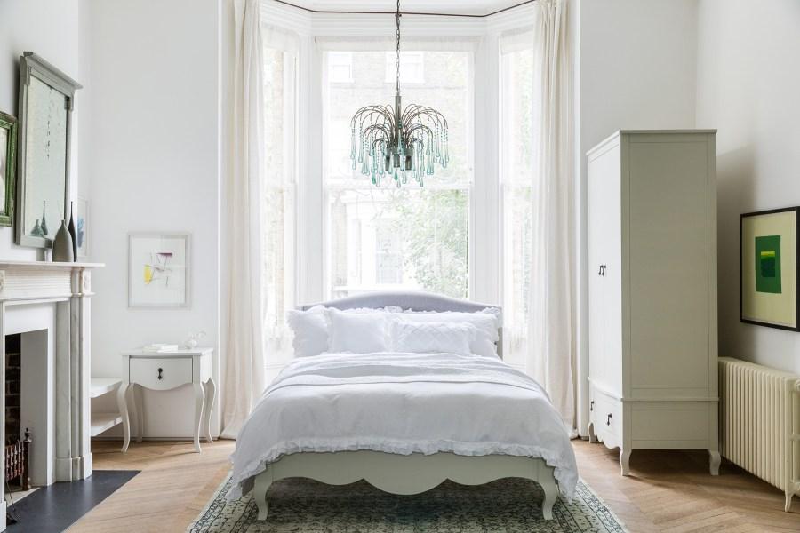 Soak&Sleep - Antoinette furniture range from £275, Ruffled Linen bed linen set from £100