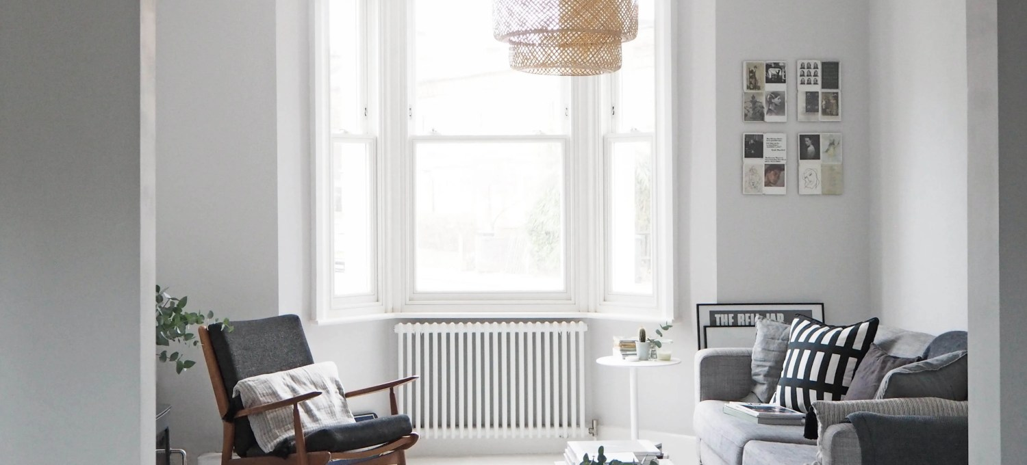 My Scandi Style Living Room Makeover Painted White Floors And