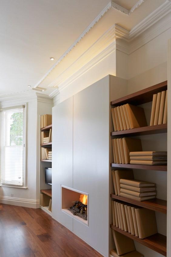 Living room lighting - lighting alcoves and bookshelves - tips for choosing LED lighting - John Cullen