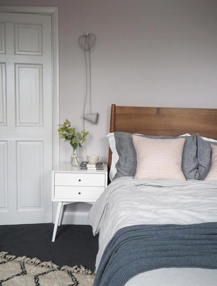 Soft blush pink bedroom reveal BEFORE + AFTER - cate st hill