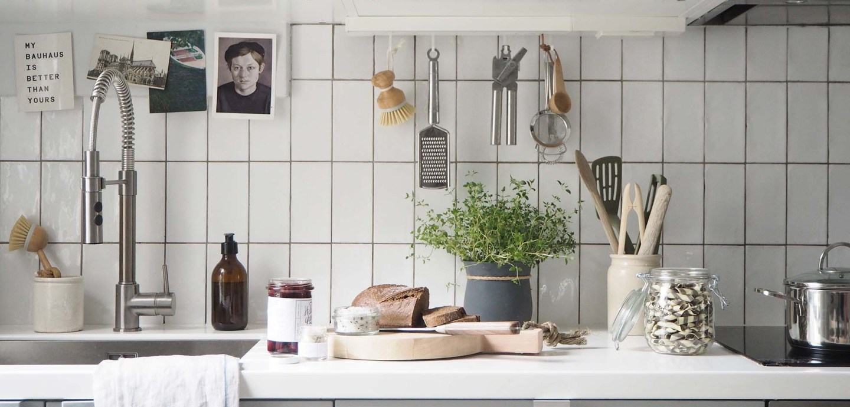 Light grey scandi-style kitchen - Affordable everyday kitchen essentials from Homesense - kitchen styling
