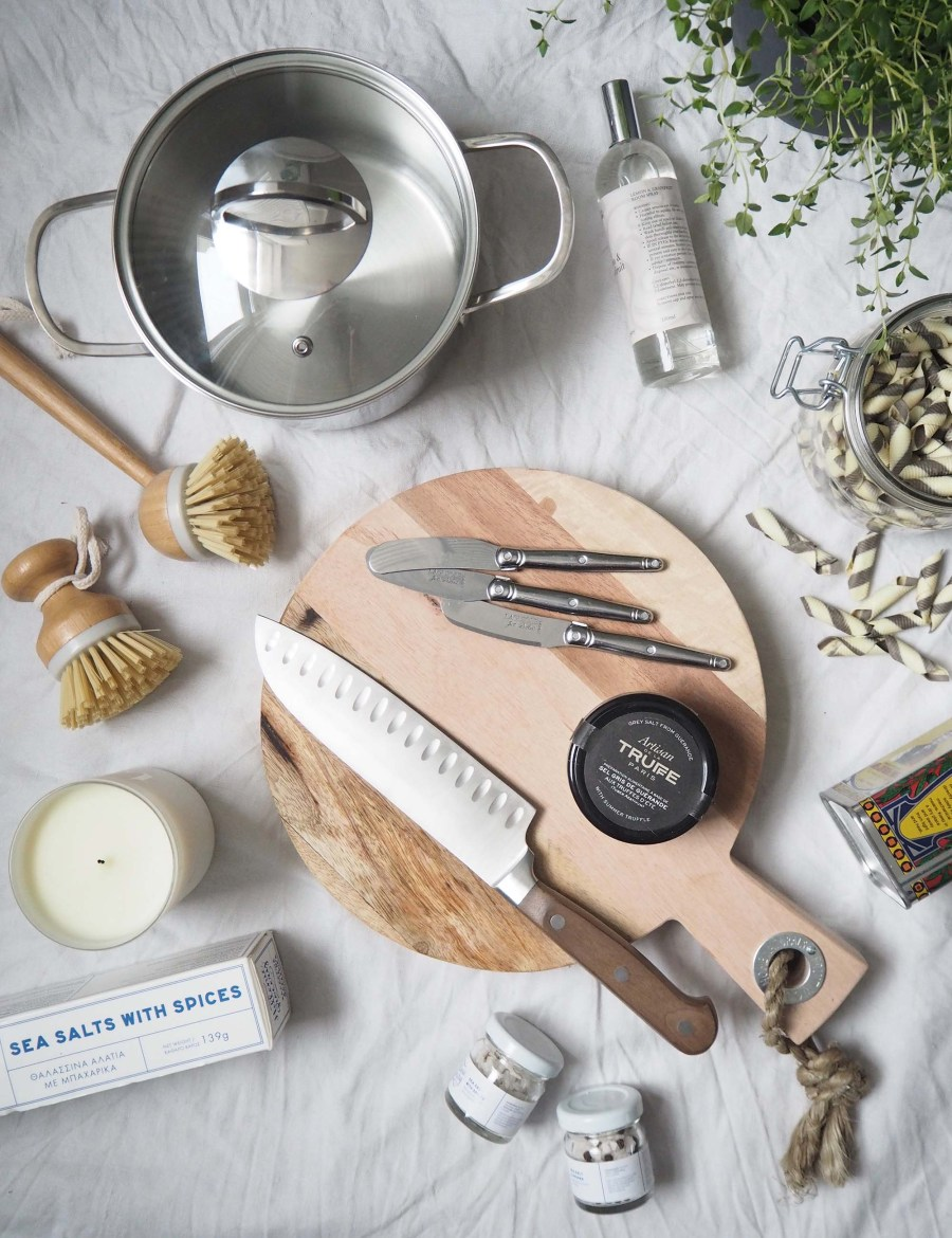 Food styling flatlay - Affordable everyday kitchen essentials from Homesense