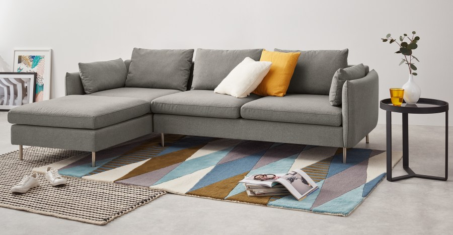 Vento corner sofa manhattan grey made.com