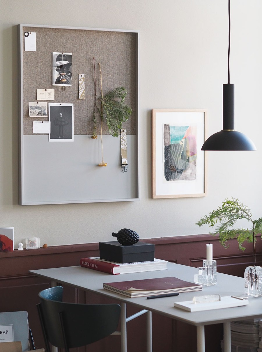 Bohemian workspace. Proving Scandi needn't be all white: inside The Home, Copenhagen by Ferm Living. Image: Cate St Hill