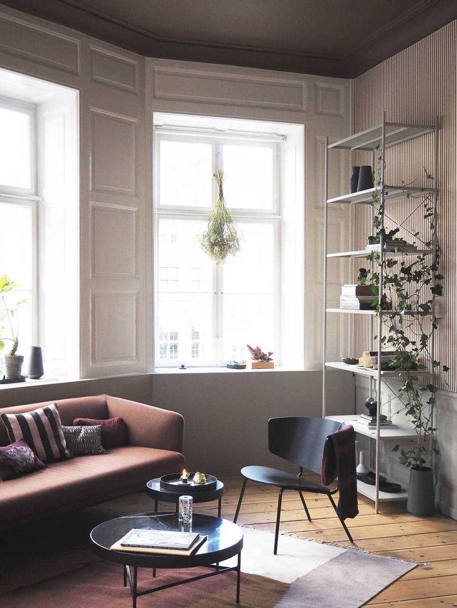 Warm autumnal living room. Neutral Decor. Proving Scandi needn't be all white: inside The Home, Copenhagen by Ferm Living. Image: Cate St Hill