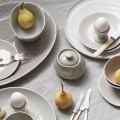 A simple table setting styled with Murmur stoneware