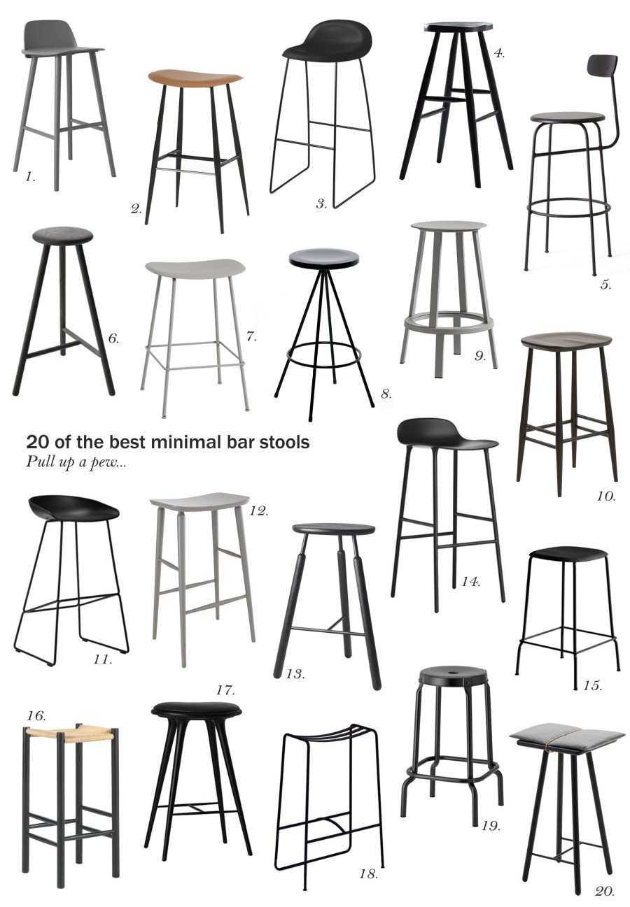 20 of the best minimal bar stools