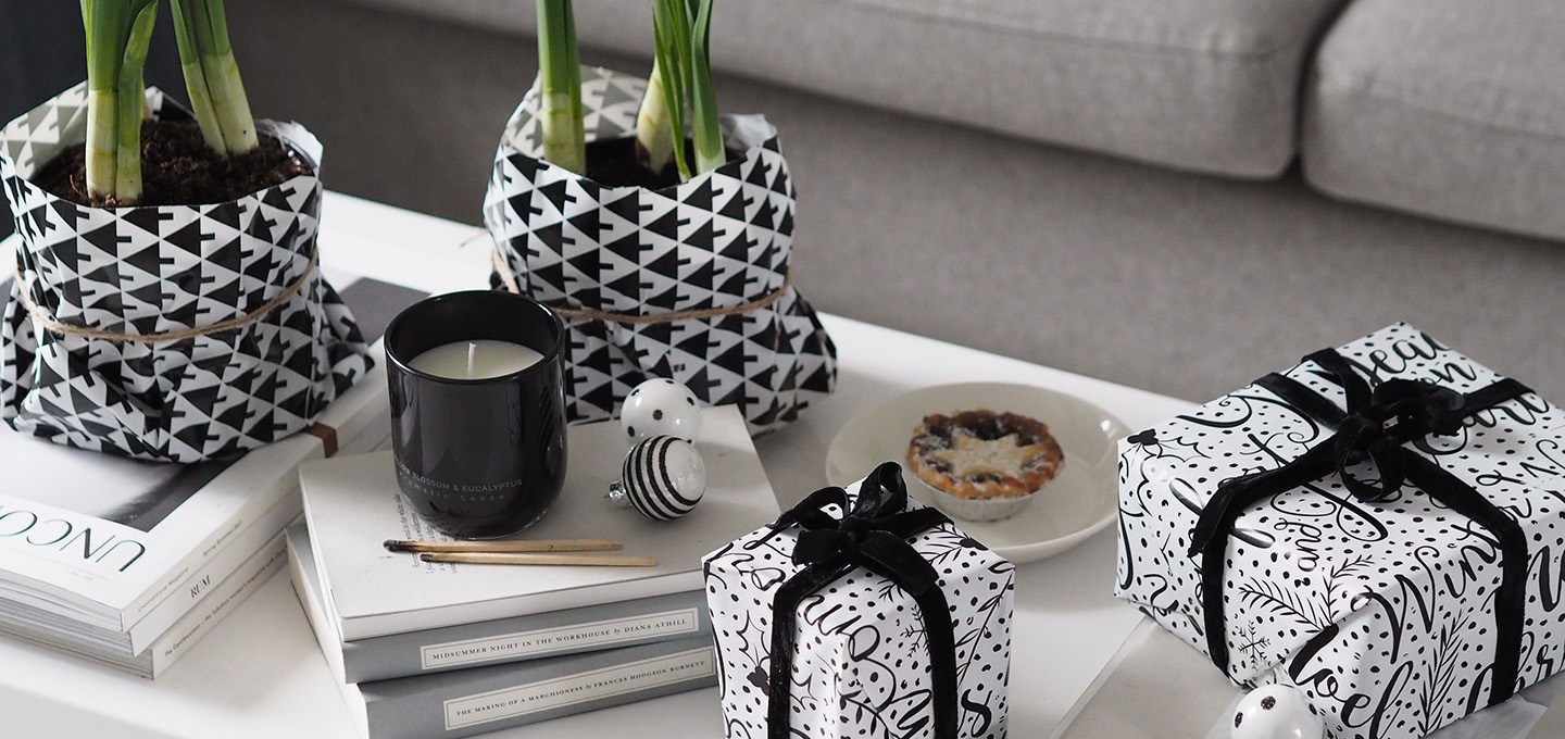 A minimal monochrome christmas on a budget with homesense for Coffee tables homesense