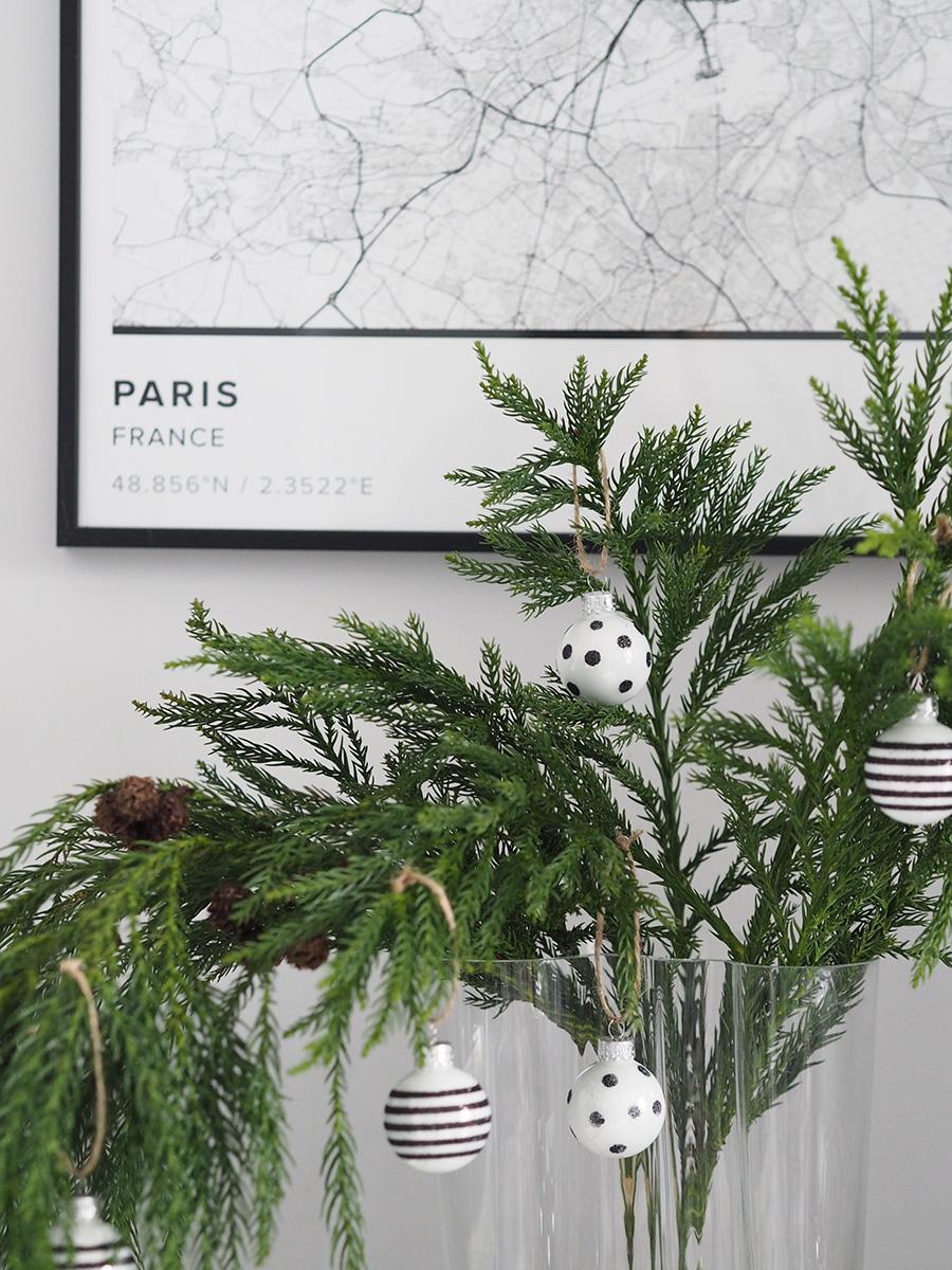 Alternative Christmas tree. A minimal, monochrome Christmas on a budget with Homesense