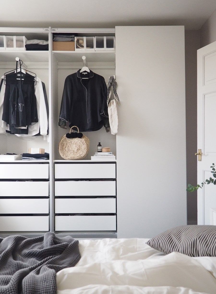 bedroom updates getting organised with ikea pax wardrobes cate st hill. Black Bedroom Furniture Sets. Home Design Ideas