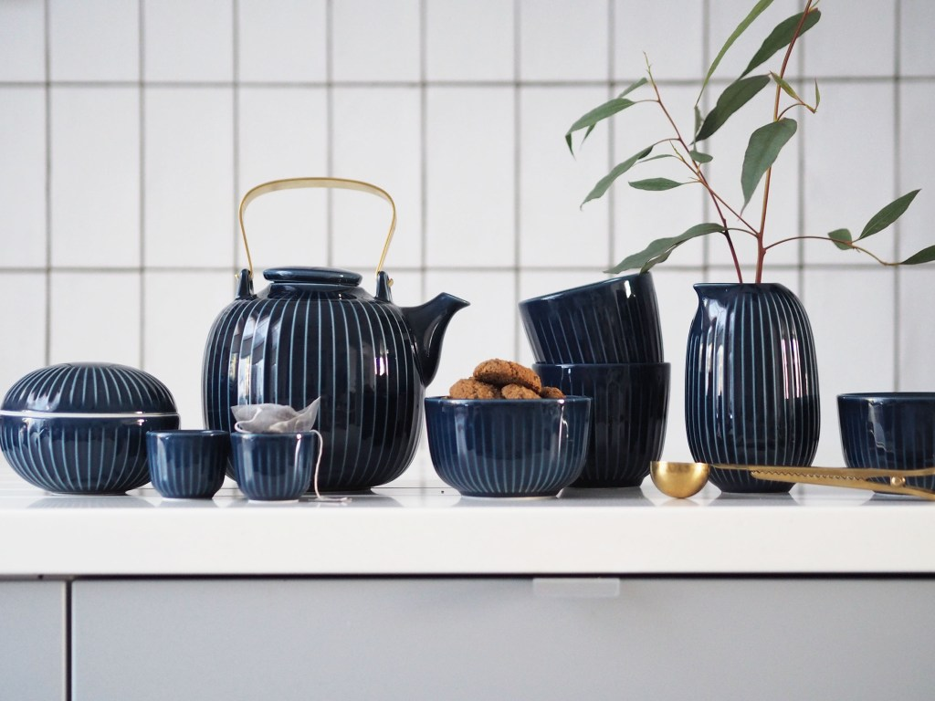 Time for tea: new indigo Hammershøi tableware from Kähler