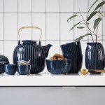 Time for tea: new indigo Hammershøi tableware from Kähler Design