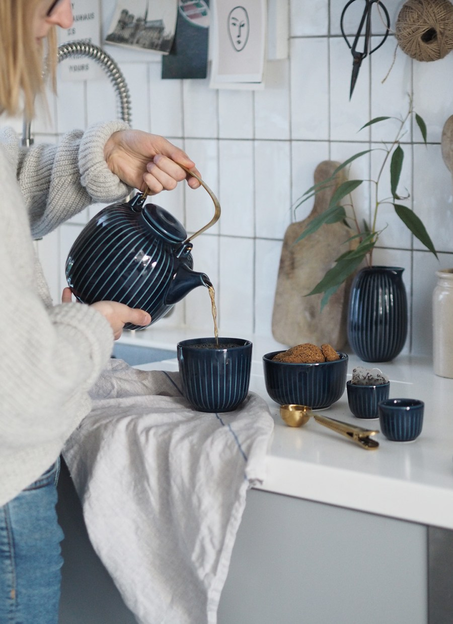 Time for tea: new indigo Hammershøi tableware from Kähler