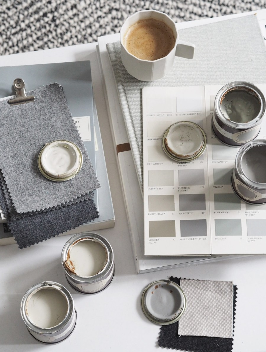 My cosy, grey home office makeover – before + mood board inspiration