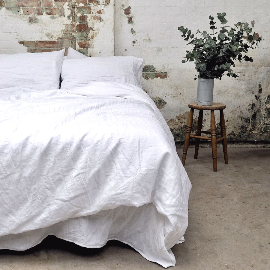 7 best places to buy pure linen bedding - White linen duvet cover from £138, pillowcases £32 for two, Piglet