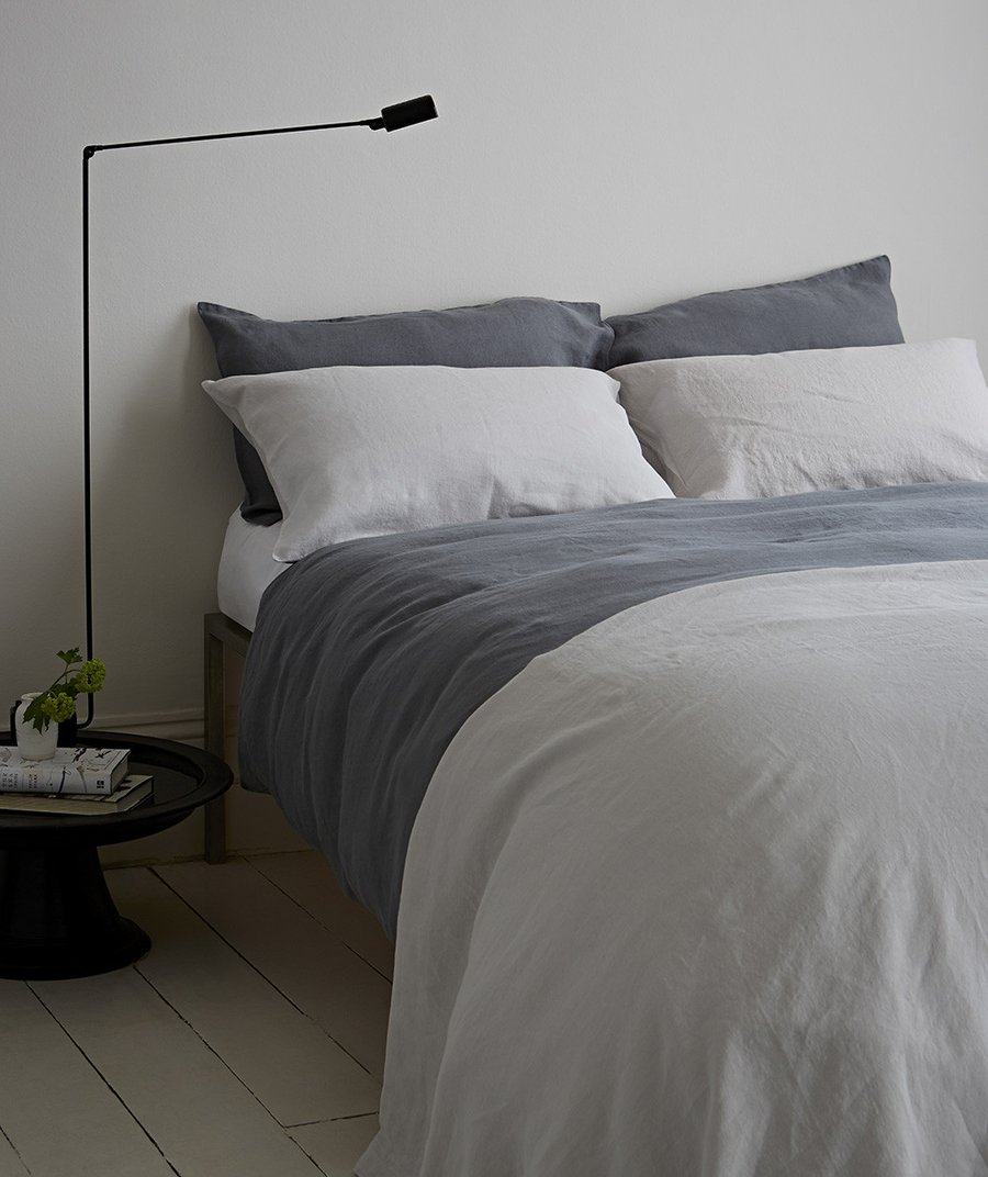 7 best places to buy pure linen bedding. Charcoal linen, from £30 for a pillowcase, The Linen Works