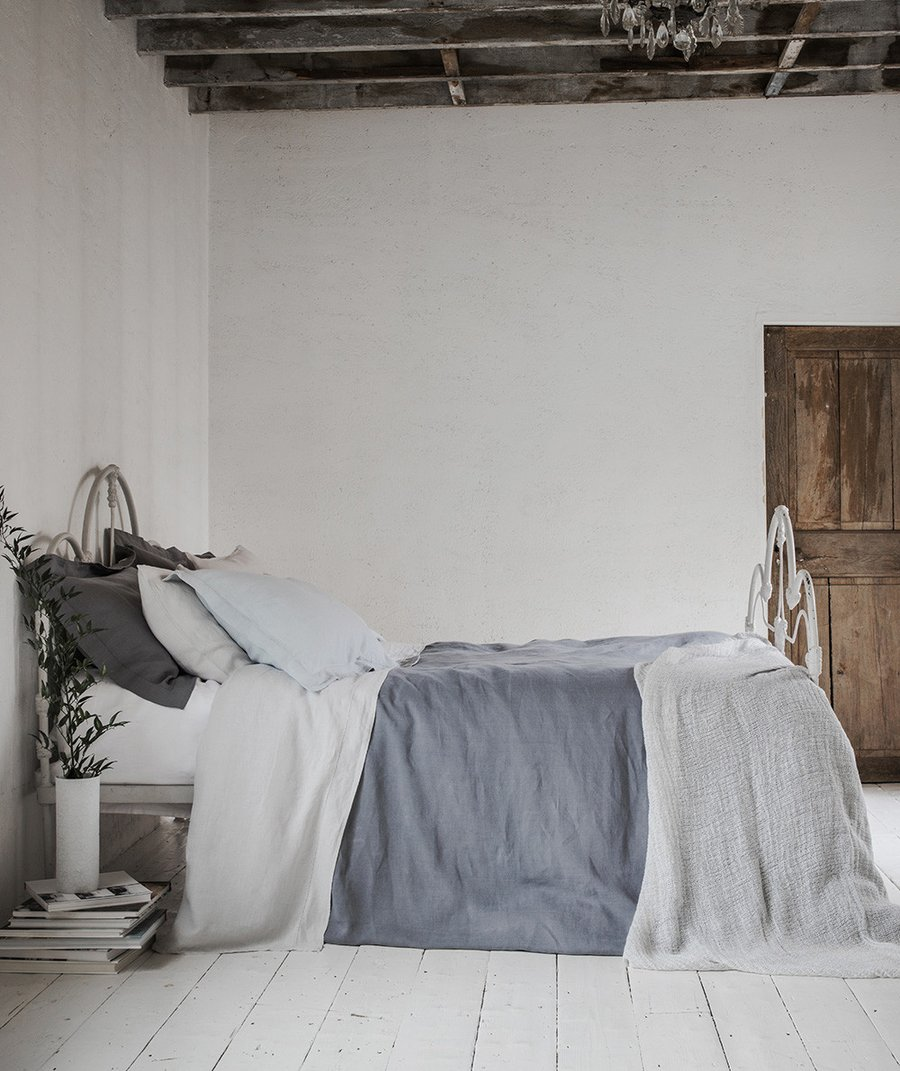 7 best places to buy pure linen bedding - Tavistock linen bedding, from £30 for a pillowcase, The Linen Works