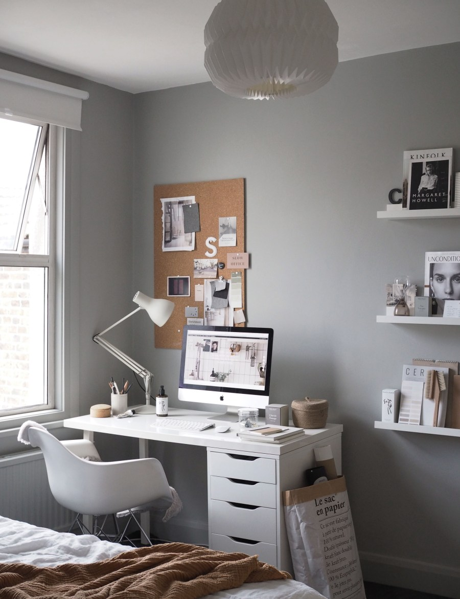 grey home office. Stunning Home Office Warm Solid Oak. Grey For A Freelance Creative - My O