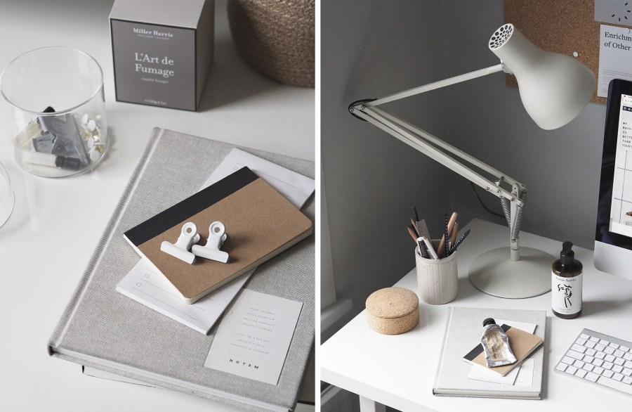 23 Creative Home Offices: A Cosy, Grey Home Office For A Freelance Creative