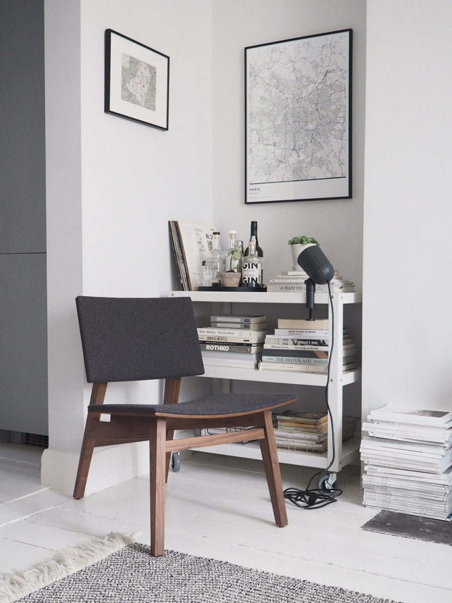 Dark wooden chair. Hand-crafted contemporary furniture by Joined + Jointed