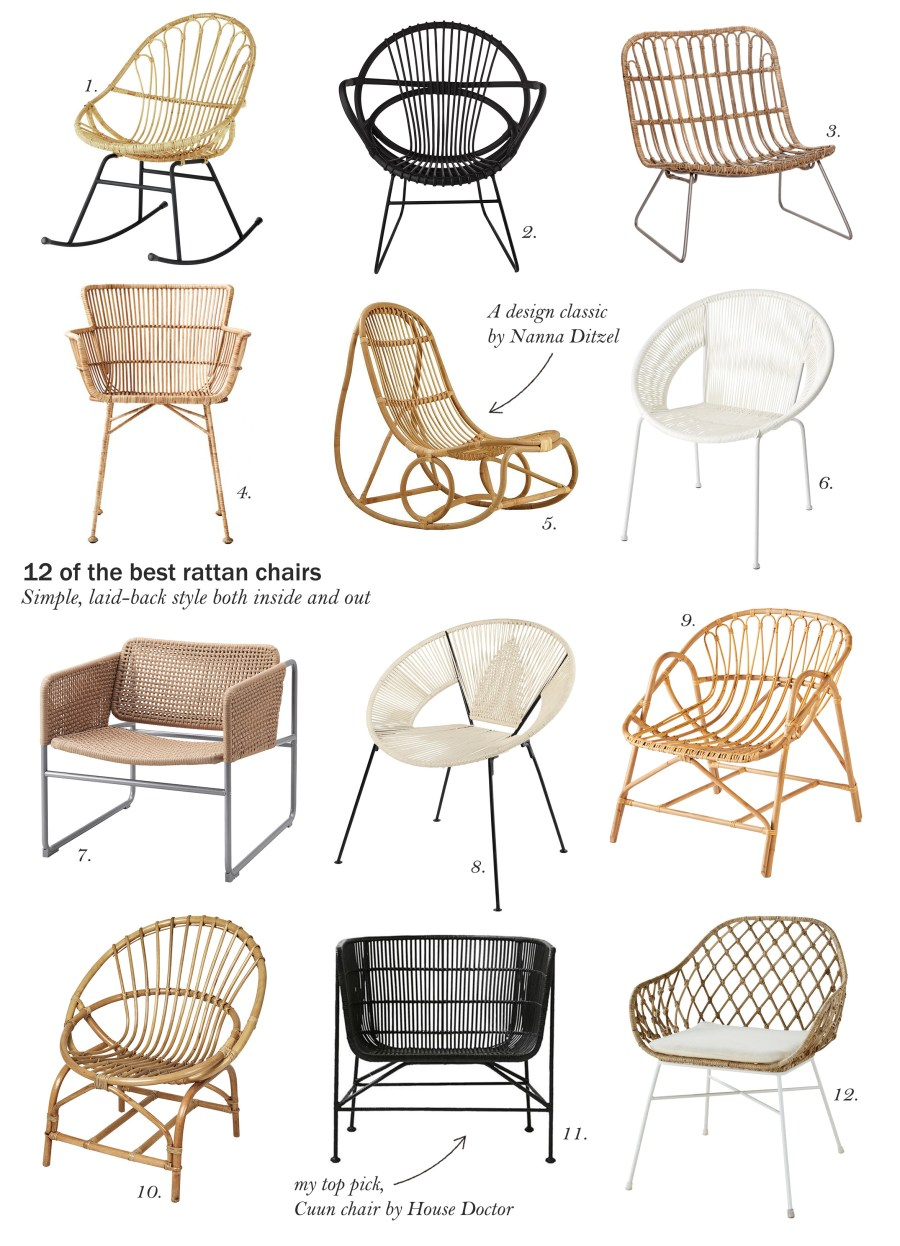 12 of the best rattan armchairs