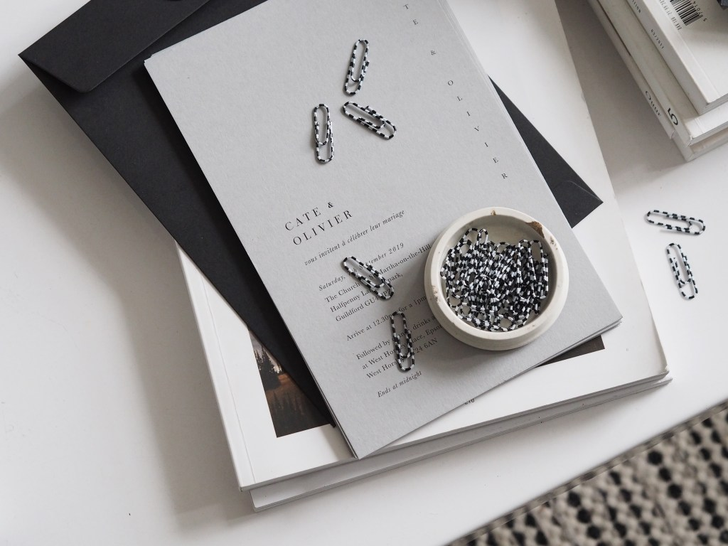 Inspiration for a minimalist wedding: the invites