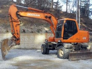 Doosan Daewoo Solar 130W-V Hydraulic Wheel Excavator Workshop Service Repair Manual