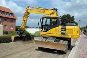 Komatsu PW160-7H Wheeled Excavator Operator Maintenance Manual